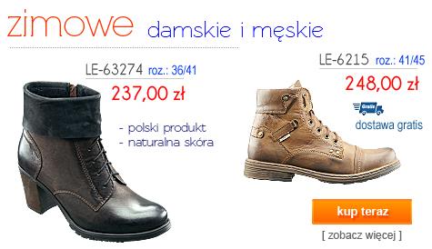 LESTA Obuwie Zimowe Męskie Damskie - gwarancja najniższej ceny