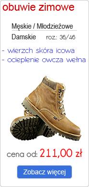 OTMĘT obuwie zimowe męskie, młodzieżowe, damskie