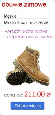 OTMĘT obuwie zimowe męskie, młodzieżowe