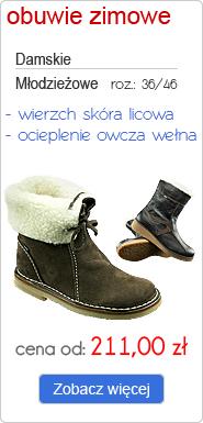 OTMĘT obuwie zimowe damskie, młodzieżowe