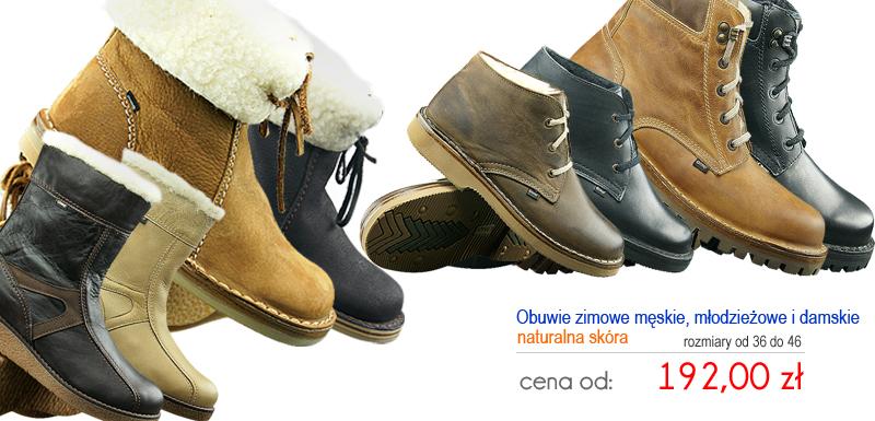 OTMĘT obuwie zimowe: męskie, młodzieżowe, damskie