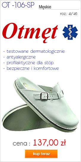 OTMĘT obuwie męskie klapki profilaktyczne, medyczne OT-106-SP
