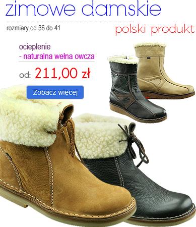 OTMĘT - obuwie zimowe damskie - gwarancja najniższej ceny