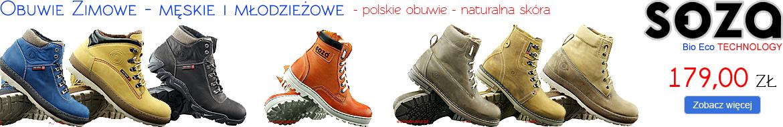 SOZA Bio Eco Obuwie Zimowe męskie i młodzieżowe